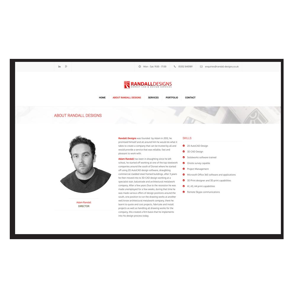 Randall Designs homepage