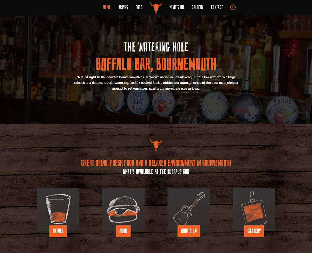 Buffalo Bar homepage